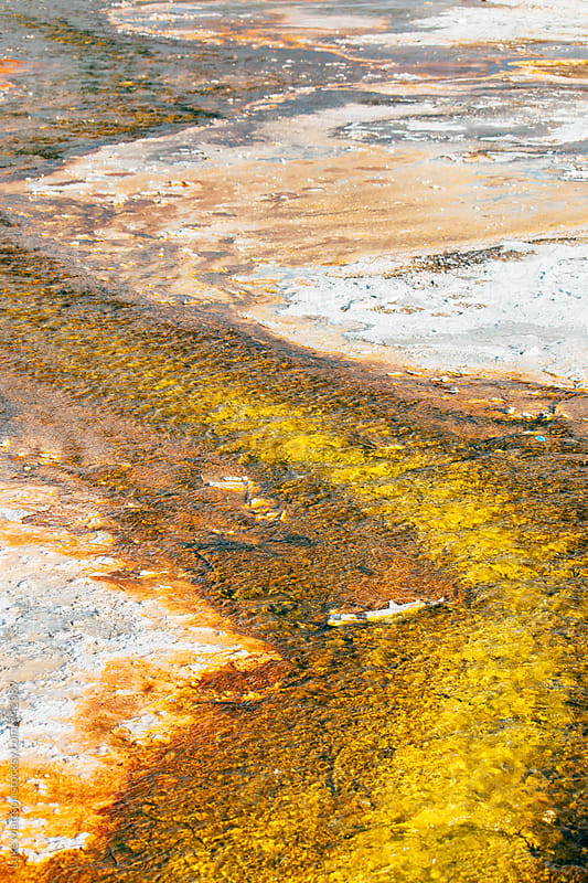 Colorful Sulfur Deposits Near A Natural Hot Spring by Luke Mattson for Stocksy United