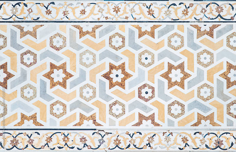 Arabic Mosaic Pattern Wall by Alexander Grabchilev for Stocksy United