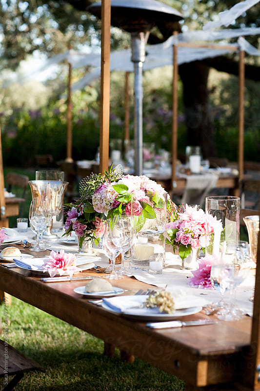 Garden Table Setting by Sara Remington for Stocksy United