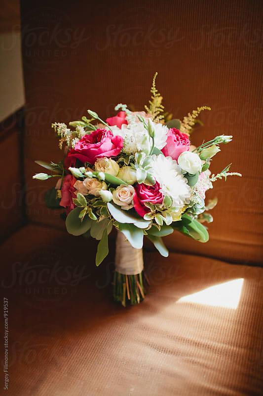 Bridal bouquet with roses by Sergey Filimonov for Stocksy United