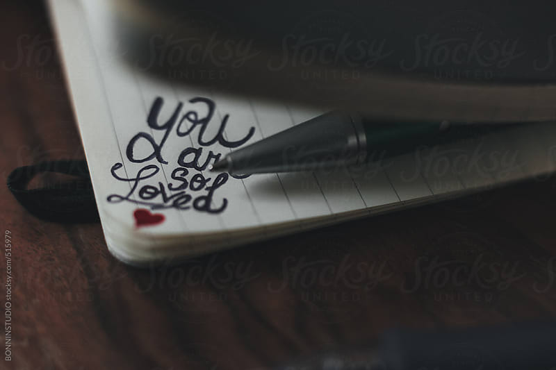 Handwritten romantic message on Valentine's day. by BONNINSTUDIO for Stocksy United