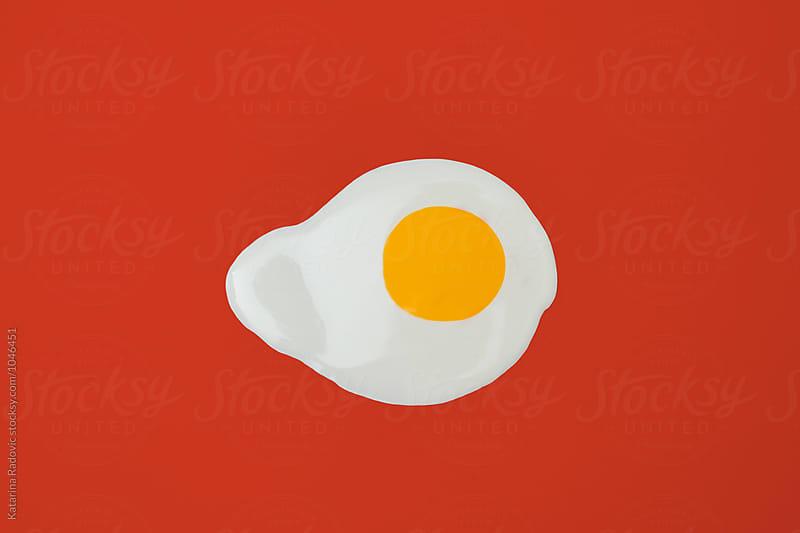 Egg Shape Made of Nail Polish Splash  by Katarina Radovic for Stocksy United