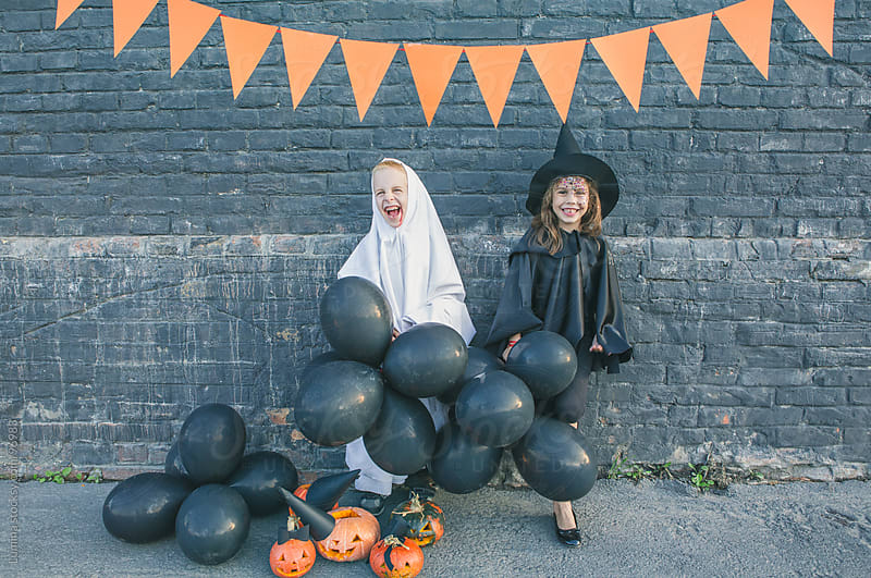 Kids Ready for Trick-or-Treating by Lumina for Stocksy United
