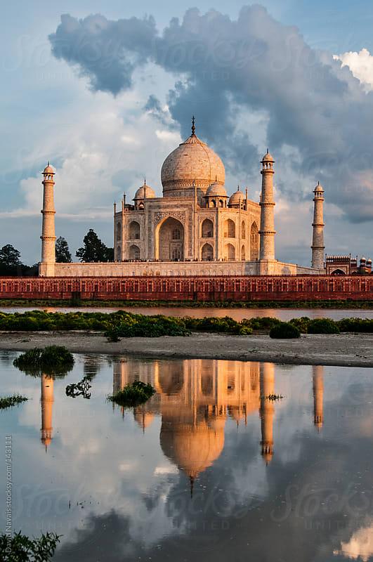 Taj Mahal reflections by David Navais for Stocksy United