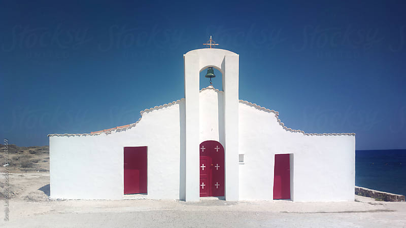 st. nicolas church on zakynthos island by Sonja Lekovic for Stocksy United
