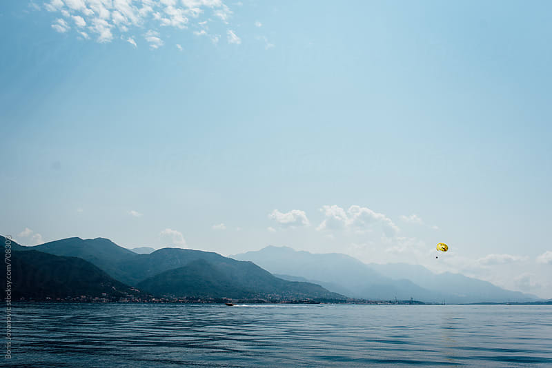 Mediterranean sea lanscape, view on Tivat bay by Boris Jovanovic for Stocksy United