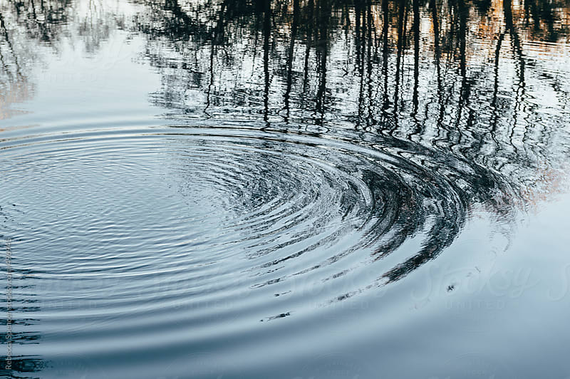 Ripples and reflections on the lake by Rebecca Spencer for Stocksy United