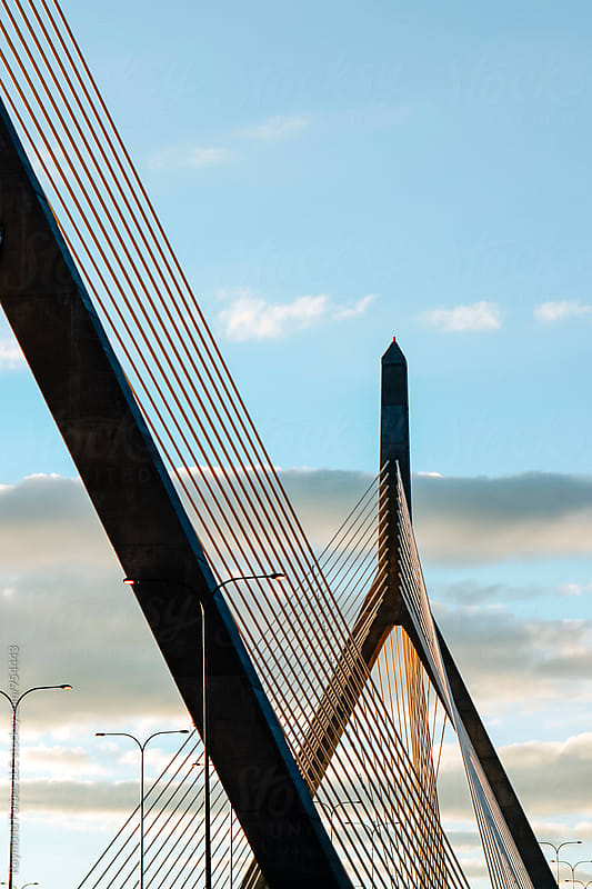 Leonard Zakim Suspension Bridge  by Raymond Forbes LLC for Stocksy United