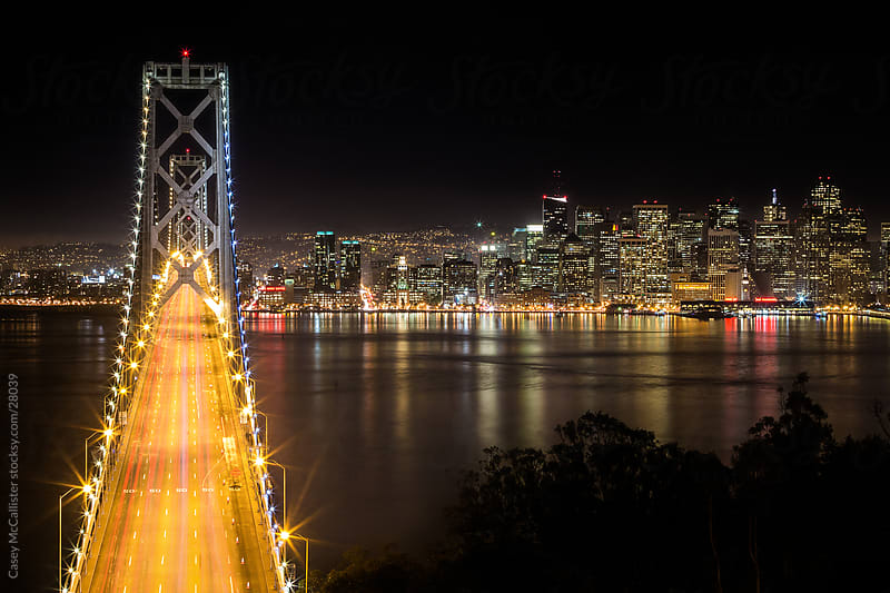 Bay Bridge From Above by Casey McCallister for Stocksy United