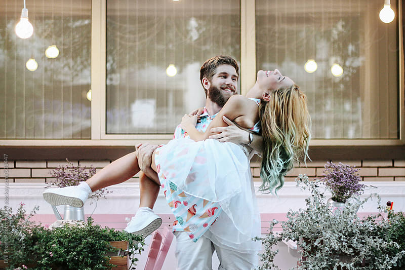 Beautiful young couple enjoy in their moments  by Evil Pixels Photography for Stocksy United