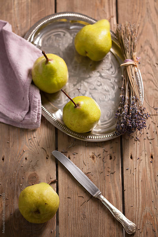 Healthy snack from organic pears. by Mosuno for Stocksy United