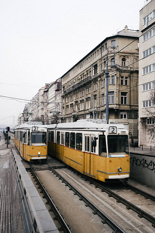 Budapest Trams by Agencia for Stocksy United