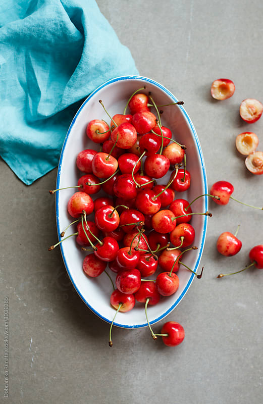 Fresh cherries by Dobránska Renáta for Stocksy United
