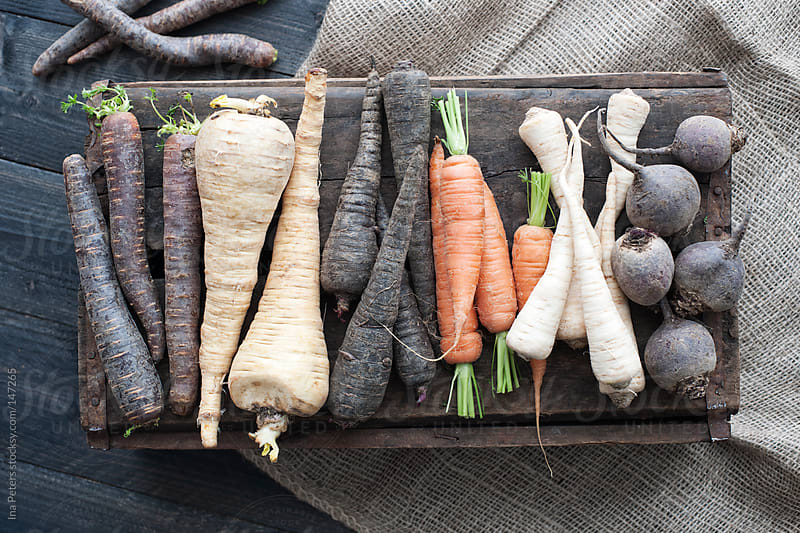 Food: Fresh Organic Root Vegetables by Ina Peters for Stocksy United