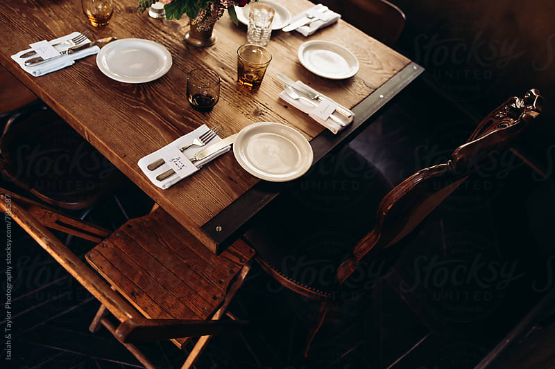 Dinner Party Charming Table Setting by Isaiah & Taylor Photography for Stocksy United