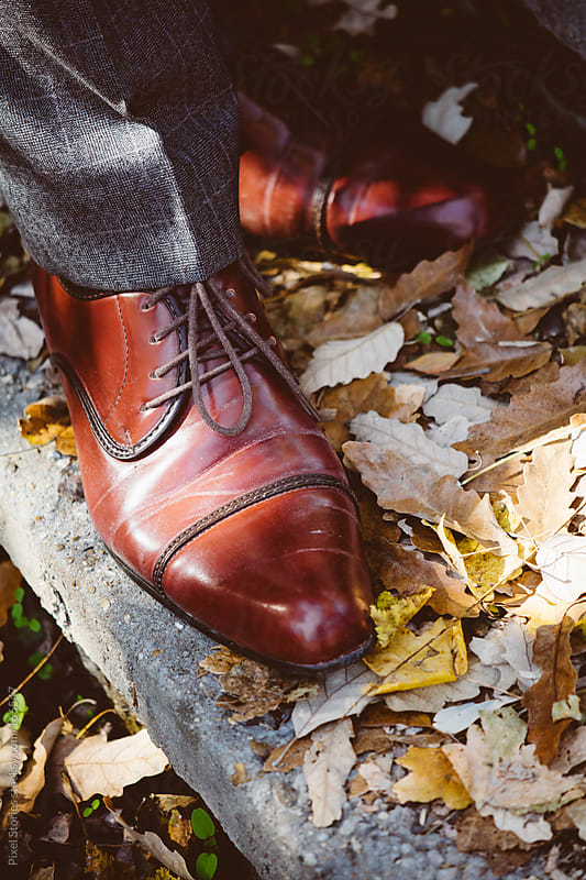 Cap toe boots by Pixel Stories for Stocksy United