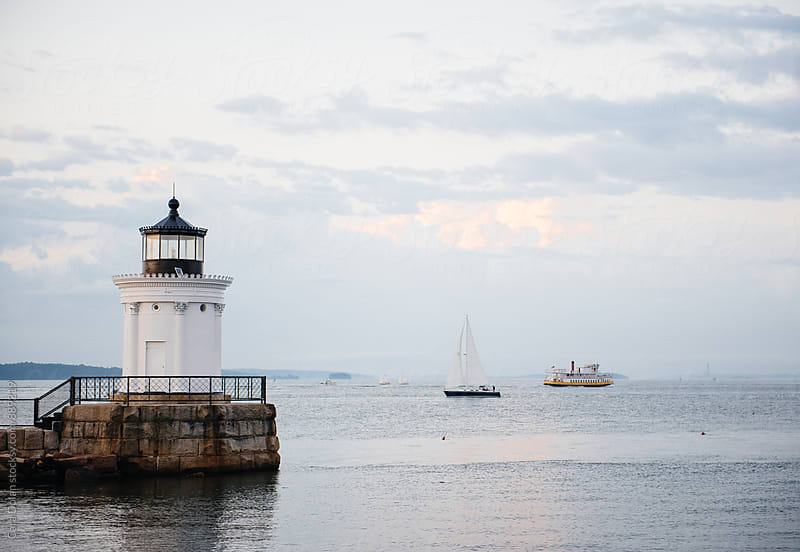 Bug Light, South Portland, Maine by Cara Slifka for Stocksy United