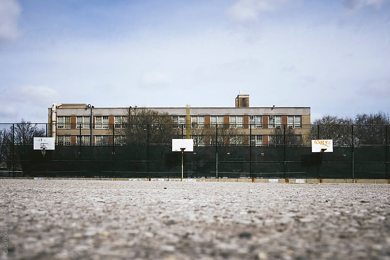 Basket court in Williamsburg, Brooklyn by GIC for Stocksy United