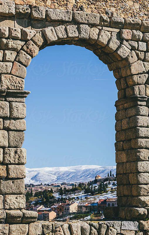 Segovia Through on of its Aqueduct Arch by VICTOR TORRES for Stocksy United