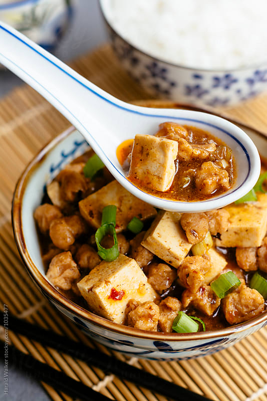 Mapo Tofu by Harald Walker for Stocksy United