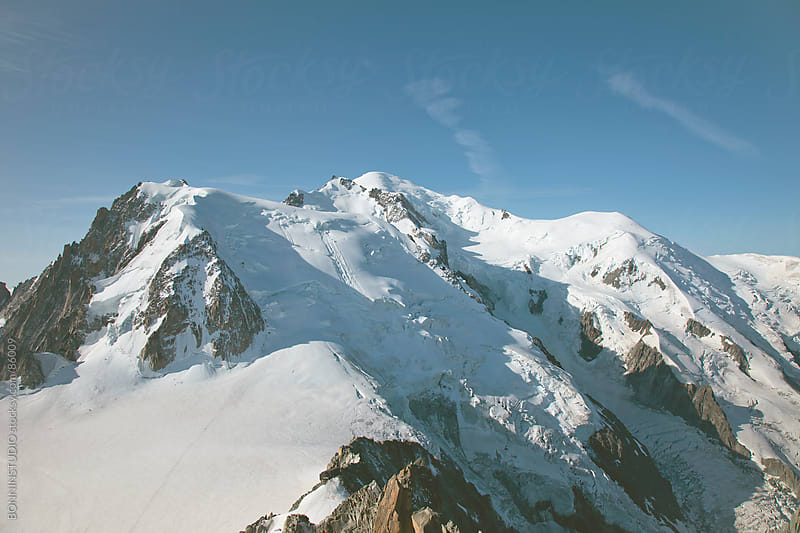 Beautiful landscape of the summit of Montblanc, France. by BONNINSTUDIO for Stocksy United