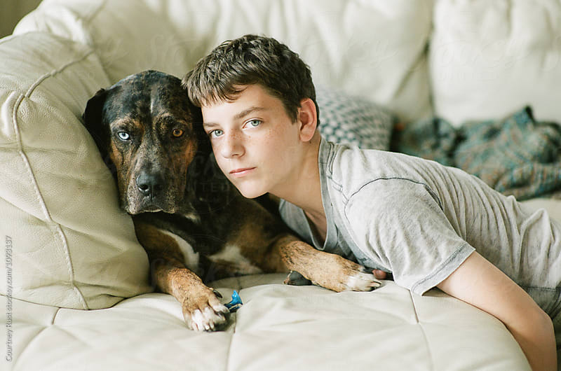 Teen's best friend by Courtney Rust for Stocksy United