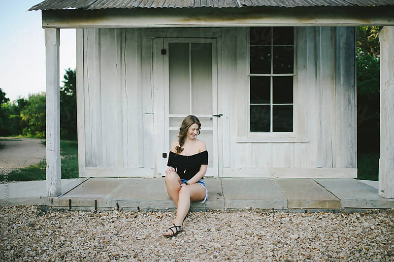 Texas Young Woman at Park by Michelle Gardella for Stocksy United