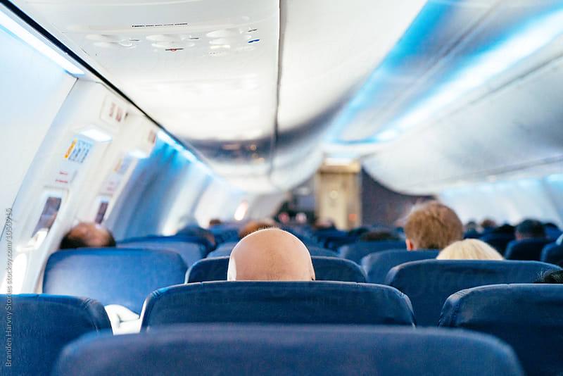 Sitting on a Plane by B. Harvey for Stocksy United