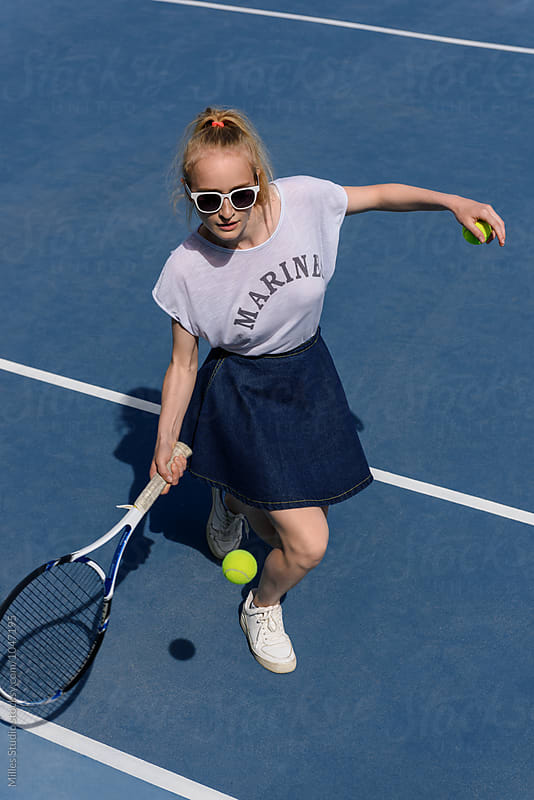 Girl playing tennis by Milles Studio for Stocksy United