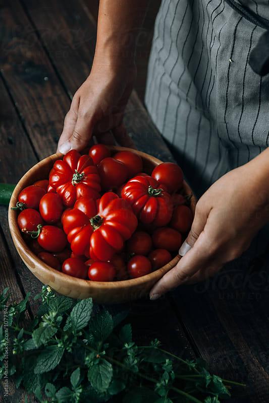 Fresh tomatoes from the garden by Nataša Mandić for Stocksy United