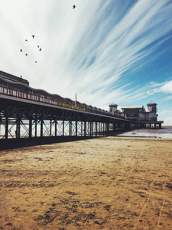Grand Pier on British Seaside by VISUALSPECTRUM for Stocksy United