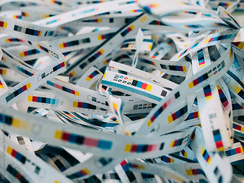 CMYK control strips by Photographer Christian B for Stocksy United