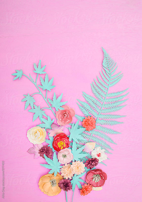 Pastel spring background by Alita Ong for Stocksy United
