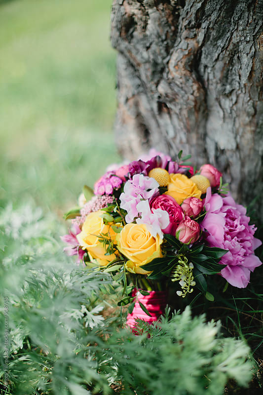 Wedding bouquet. Bride's flowers by Sergey Filimonov for Stocksy United