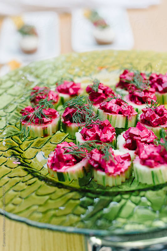 Cucumber & Beet Cups by Cameron Whitman for Stocksy United