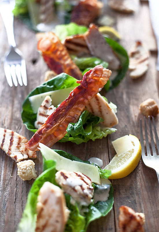 Deconstructed chicken and bacon salad. by Darren Muir for Stocksy United