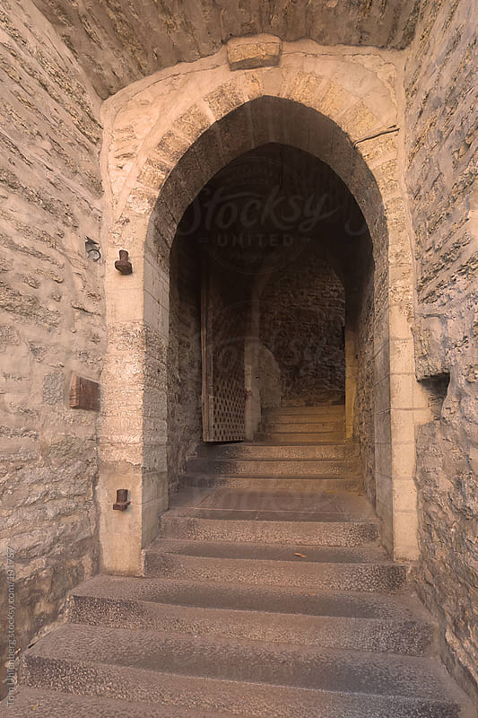 Medieval Gate and Staircase in Tallinn, Estonia by Tom Uhlenberg for Stocksy United