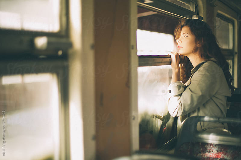Girl on the train by Nabi Tang for Stocksy United