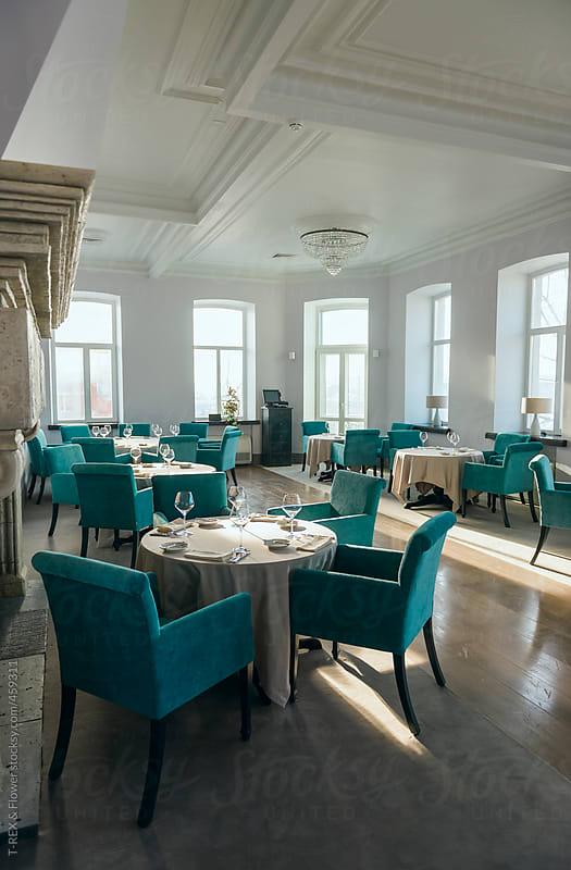 Restaurant interior by T-REX & Flower for Stocksy United