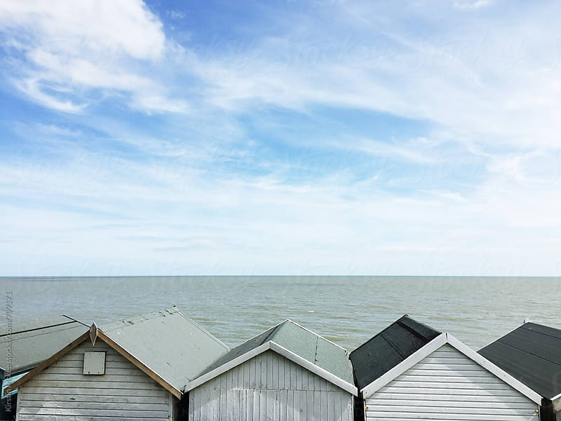 Beach huts, Frinton by Kirstin Mckee for Stocksy United