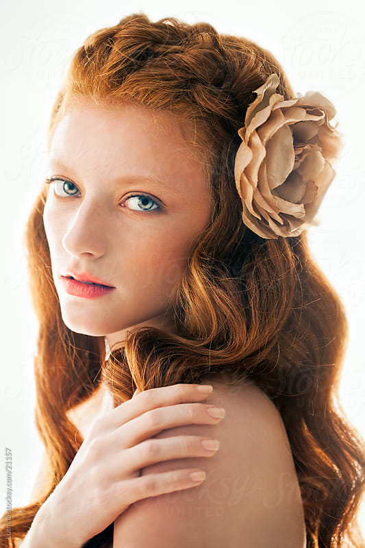 Beautiful Red-Haired Woman by Lumina for Stocksy United
