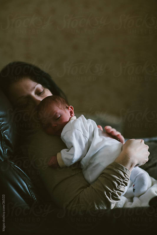 Newborn baby and mother. by kkgas for Stocksy United