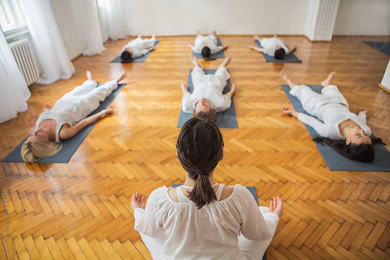 Relaxation Yoga Exercise (Shavasana) by Lumina for Stocksy United