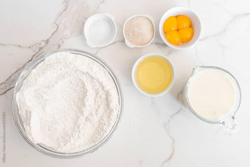 baking ingredients, for cake, pancake or waffles by Gillian Vann for Stocksy United
