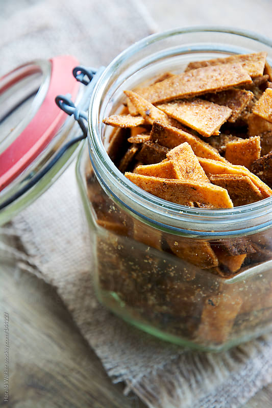 Spicy Homemade Baked Tortilla Chips by Harald Walker for Stocksy United