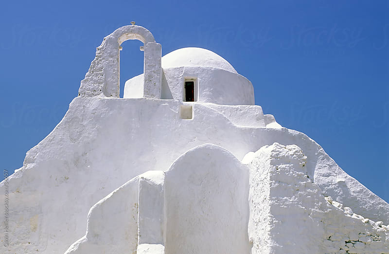 Church of Panagia Paraportiani, Mykonos (Hora), Cyclades Islands, Greece, Europe by Gavin Hellier for Stocksy United