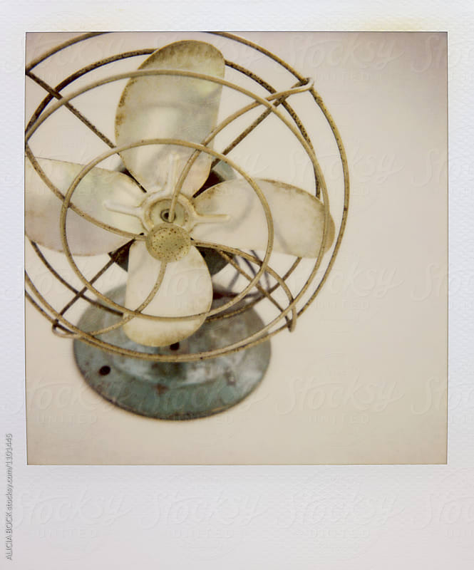 A Vintage Fan Photographed With Expired Polaroid Film by ALICIA BOCK for Stocksy United