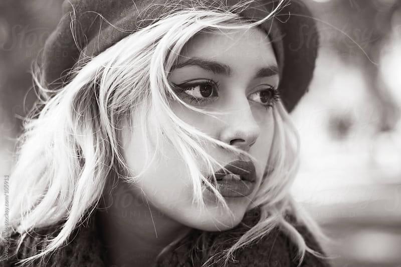 Beautiful girl outdoors,portrait shoot by Jovana Rikalo for Stocksy United