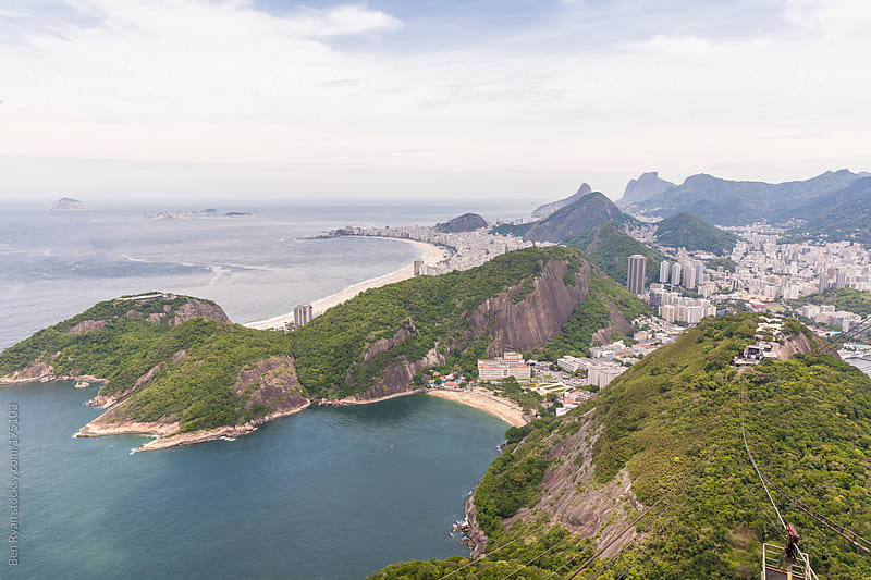 Rio de Janeiro aerial view from sugarloaf mountain by Ben Ryan for Stocksy United