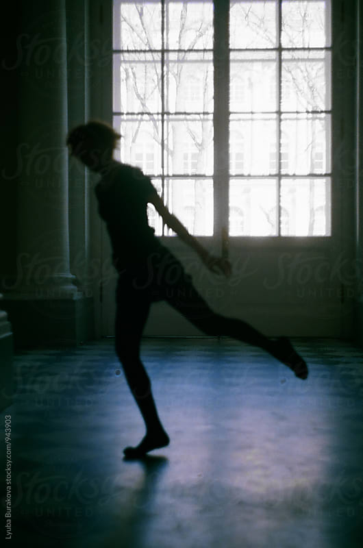 Silhouette of dancing woman by Lyuba Burakova for Stocksy United
